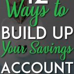 Ways to build up your savings account pinterest pin