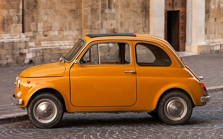 Orange Compact Small Car