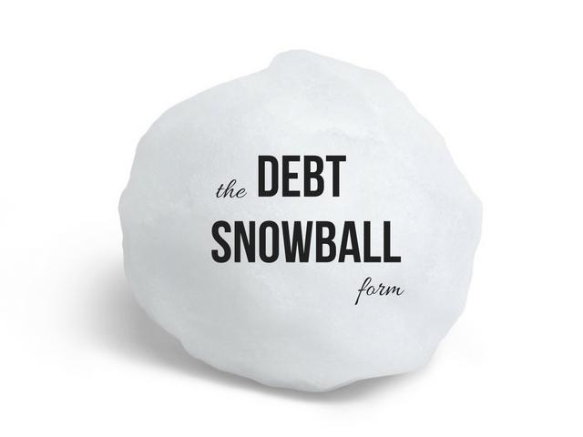 DEBT SNOWBALL form