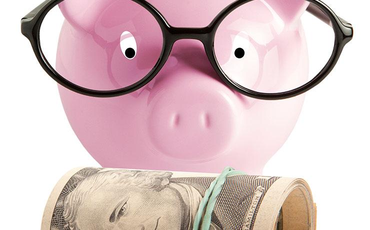 Pink Piggy Bank with Cap