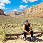 deacon hiking inside grand canyon