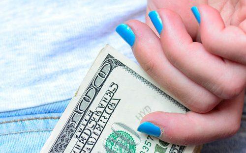 Money in jean pants pocket