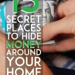 Secret places to hide money around your home pinterest pin
