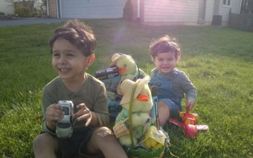 Joyce'sBoys playing in the grass
