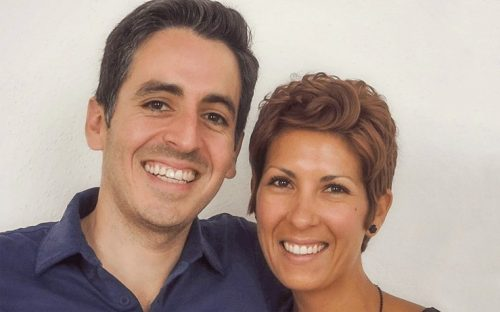 Christina Soto smiling with man