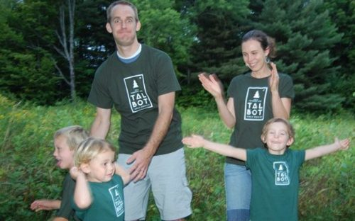 Family Being Silly in the woods