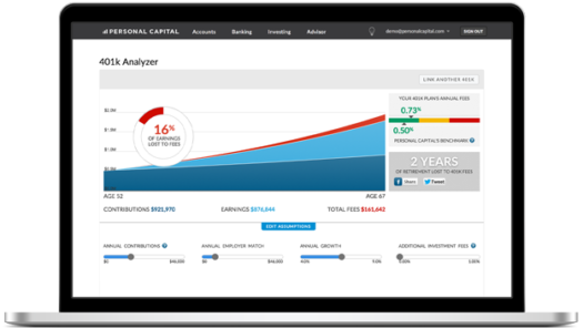401k analyzer screenshot
