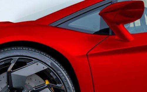 luxury red car