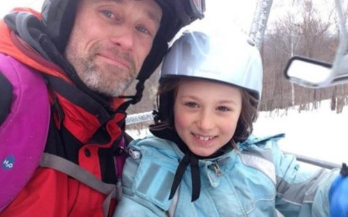 Will and Daughter on Ski Lift