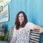 Kara Perez Sitting on a Bench