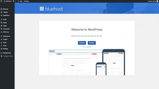welcome to wordpress screenshot