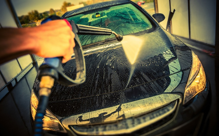 washing a car for money