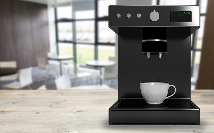 Black coffee maker machine