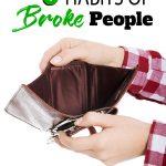 Hands opening empty wallet