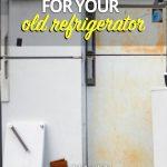 Used refrigerators on brick ledge