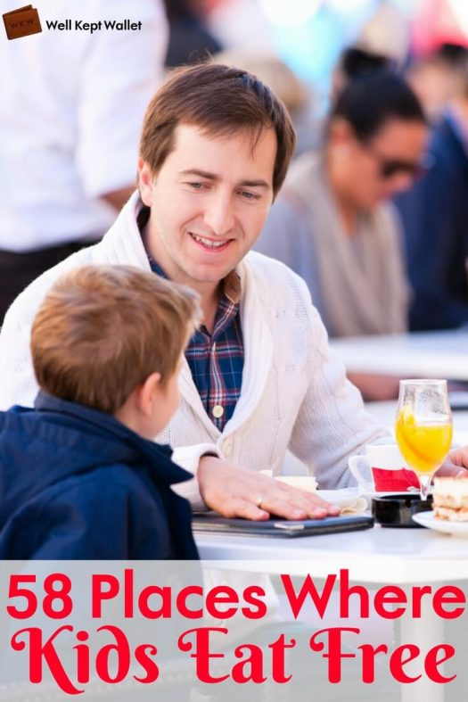 Man with a boy and girl eating in a restaurant PI