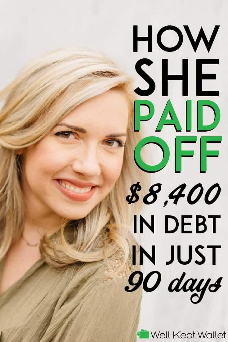 Lauren who paid off her debt
