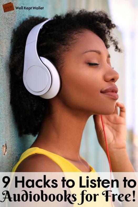 Girl outside with headphones