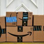 Amazon boxes on door step FI