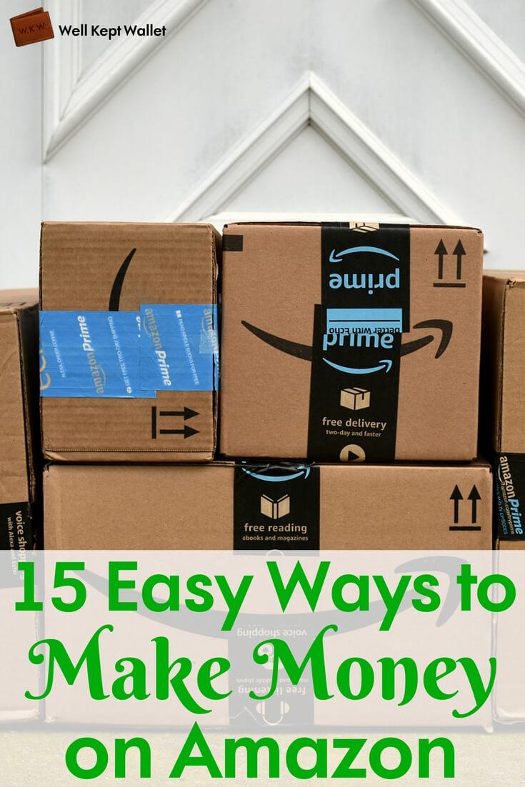 Boîtes Amazon sur le seuil de la porte PI