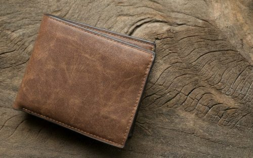 Thin leather wallet FI