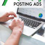 Man posting ads