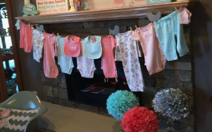 baby clothes hanging on a line