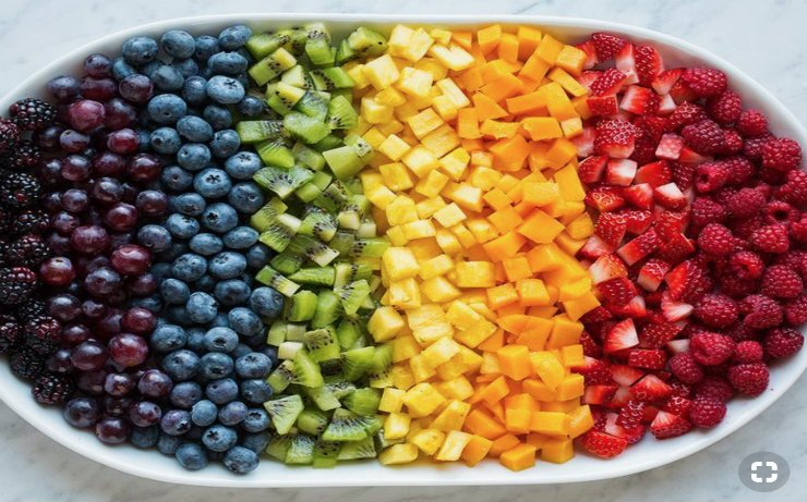 fruit in bowl that looks like rainbow