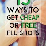 Ways to get cheap or free flu shots pinterest pin