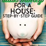 Hands holding piggy bank to save for home