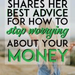 how to stop worrying about your money pinterest pin