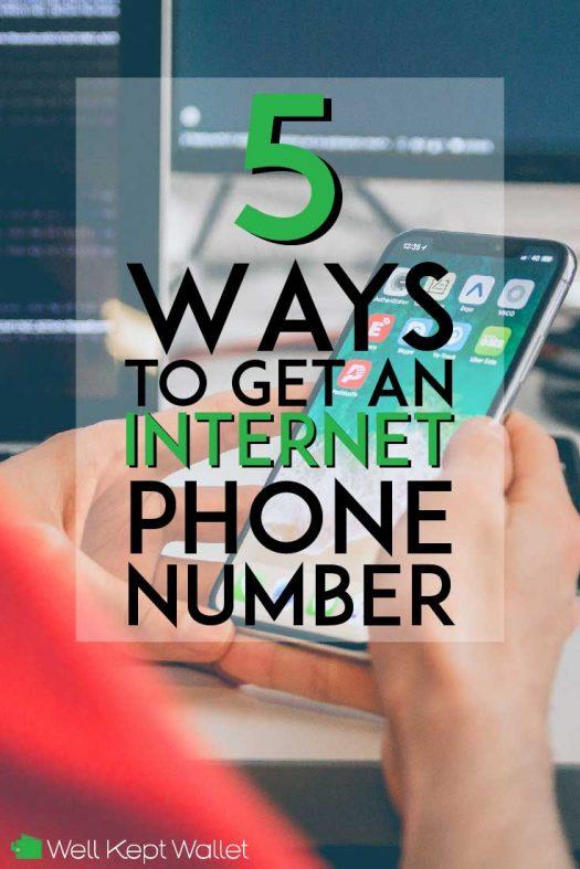 ways to get an internet phone number pinterest pin