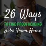 work as a proofreader