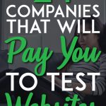 Companies that pay you to test websites pinterest pin