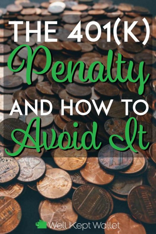401k penalty and how to avoid it pinterest pin
