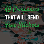 free stickers word on picture