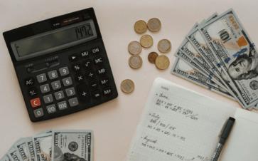 person preparing taxes