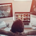 Investor at desk