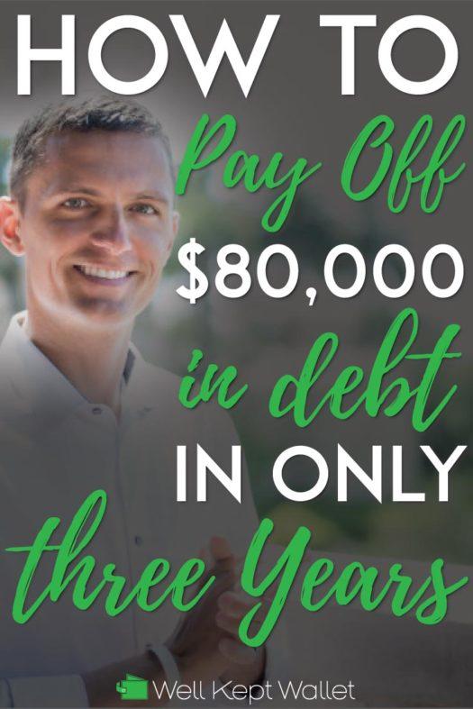 80k in debt in 3 years Pinterest-Pin