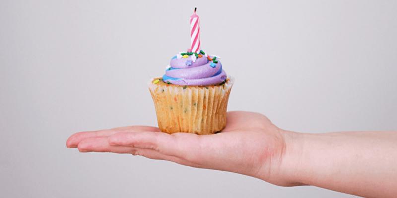 image of birthday cupcake