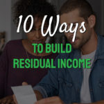 Words 10 ways to build residual income on page