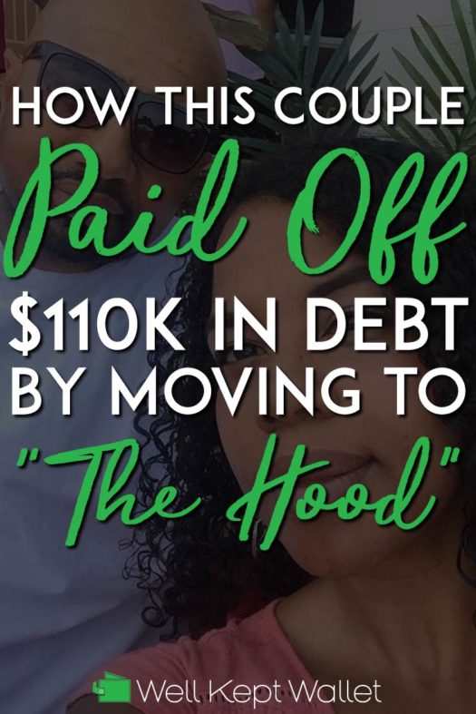 Couple paid off 110k in debt pinterest pin