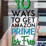 ways to get amazon prime for free pinterest pin