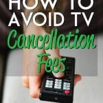 How to avoid paying TV cancellation fees pinterest pin
