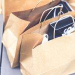 brown paper bags full of samples