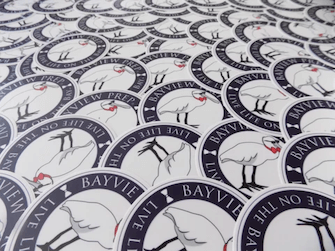 Many of the free Bayview stickers that are free