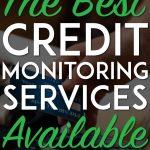 Best credit monitoring pinterest pin