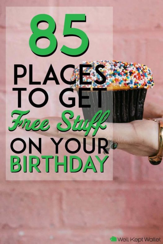 Places to get free stuff on your birthday pinterest pin