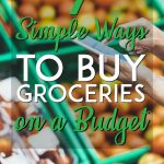 Simple ways to buy groceries on a budget pinterest pin