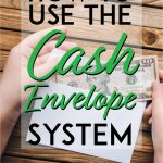 How to use the cash envelope system pinterest pin
